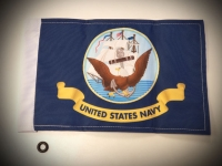 US Navy Motorcycle Flag