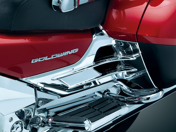 Goldwing Gl1800 F6b Louvered Chrome Battery Box Covers