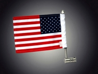 Goldwing GL1800 Stainless Steel Antenna Flag Mount with Flag