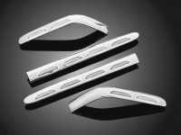 Goldwing GL1800 Chrome Lens Saddlebag Molding Set