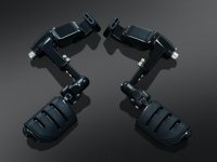 Goldwing GL1800 F6B Black Ergo III Adjustable Cruise Mounts with Trident Pegs