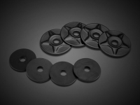Goldwing Satin Black Star Trunk Rack Washers