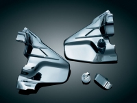 Goldwing GL1800 F6B Louvered Chrome Transmission Covers