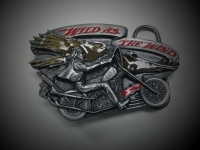 Wild As The Wind Biker Belt Buckle