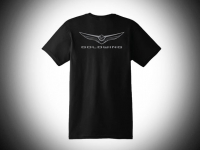Goldwing Tee Shirt - Black-Gray Logo-Large